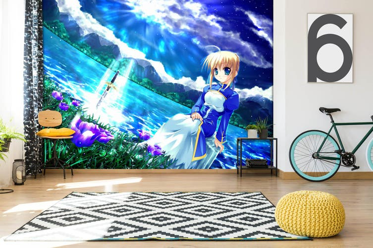 3D Fate Stay Night 715 Anime Wall Murals Self-adhesive Vinyl, XXXXL 520cm x 290cm (WxH)(205''x114'')