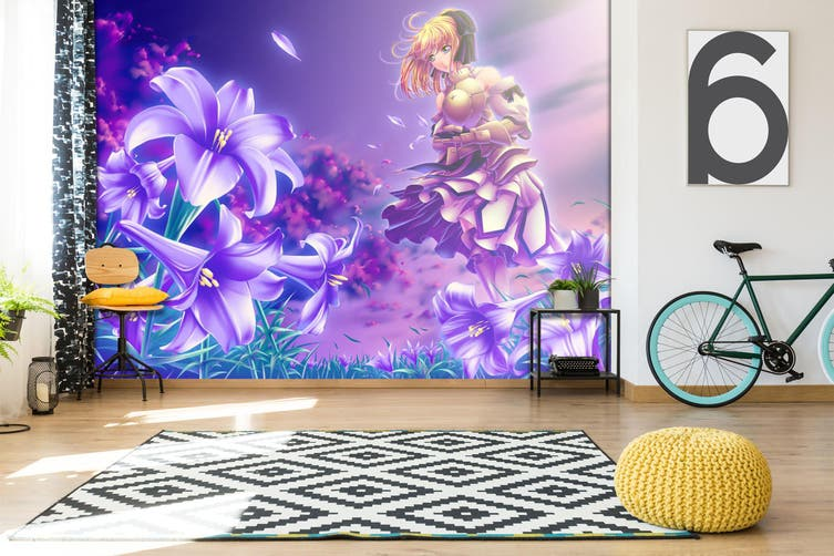 3D Fate Stay Night 713 Anime Wall Murals Woven paper (need glue), XXL 312cm x 219cm (WxH)(123''x87'')