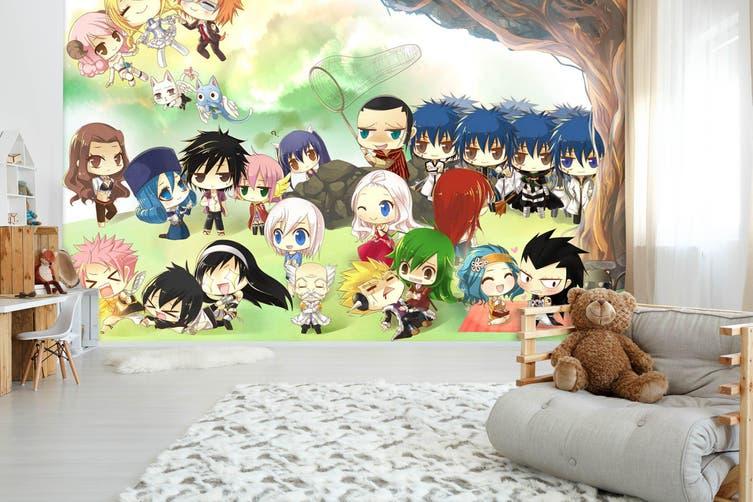 3D Fairy Tail 711 Anime Wall Murals Self-adhesive Vinyl, XL 208cm x 146cm (WxH)(82''x58'')