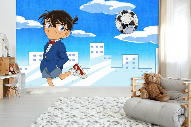 3D Detective Conan 700 Anime Wall Murals Self-adhesive Vinyl, XXL 312cm x 219cm (WxH)(123''x87'')