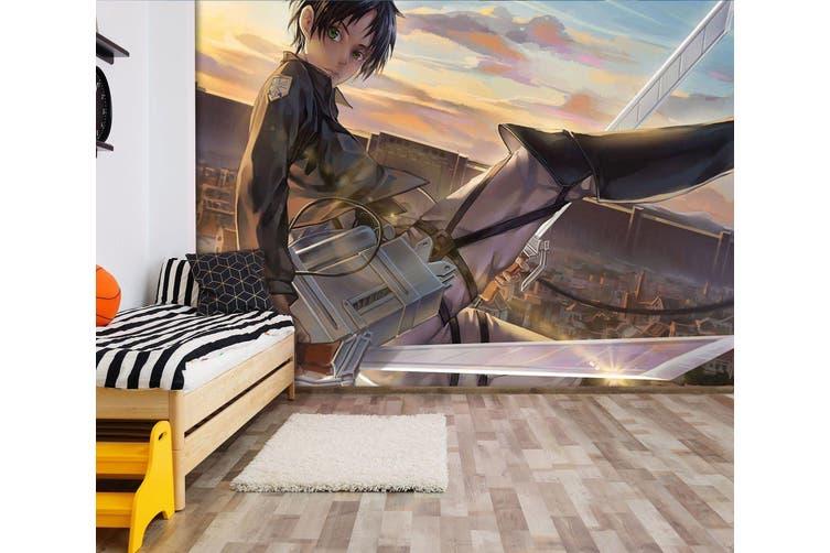3D Attack On Titan 666 Anime Wall Murals Woven paper (need glue), XXXL 416cm x 254cm (WxH)(164''x100'')