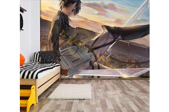 3D Attack On Titan 666 Anime Wall Murals Woven paper (need glue), XXXXL 520cm x 290cm (WxH)(205''x114'')