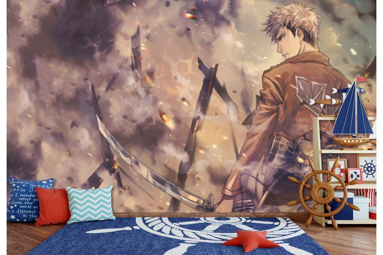 3D Attack On Titan 667 Anime Wall Murals Woven paper (need glue), XL 208cm x 146cm (WxH)(82''x58'')