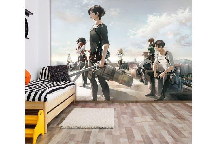 3D Attack On Titan 669 Anime Wall Murals Woven paper (need glue), XXL 312cm x 219cm (WxH)(123''x87'')