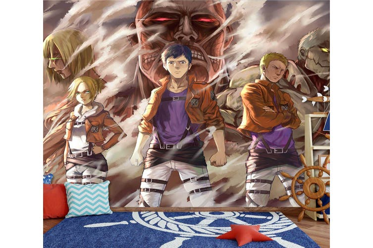 3D Attack On Titan 671 Anime Wall Murals Self-adhesive Vinyl, XL 208cm x 146cm (WxH)(82''x58'')