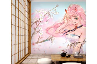3D DARLING In The FRANXX 693 Anime Wall Murals Woven paper (need glue), XXXL 416cm x 254cm (WxH)(164''x100'')
