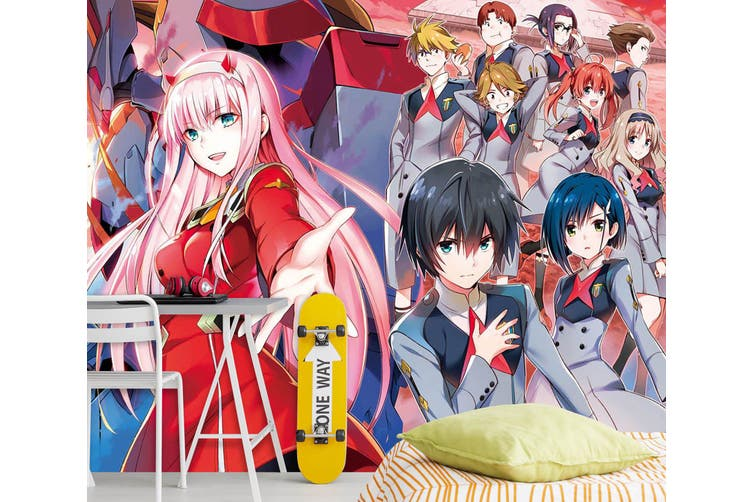 3D DARLING In The FRANXX 690 Anime Wall Murals Woven paper (need glue), XL 208cm x 146cm (WxH)(82''x58'')