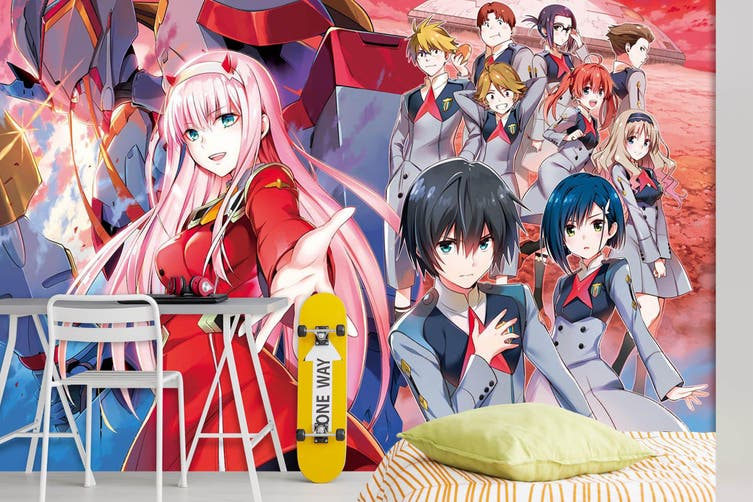 3D DARLING In The FRANXX 690 Anime Wall Murals Woven paper (need glue), XXXXL 520cm x 290cm (WxH)(205''x114'')