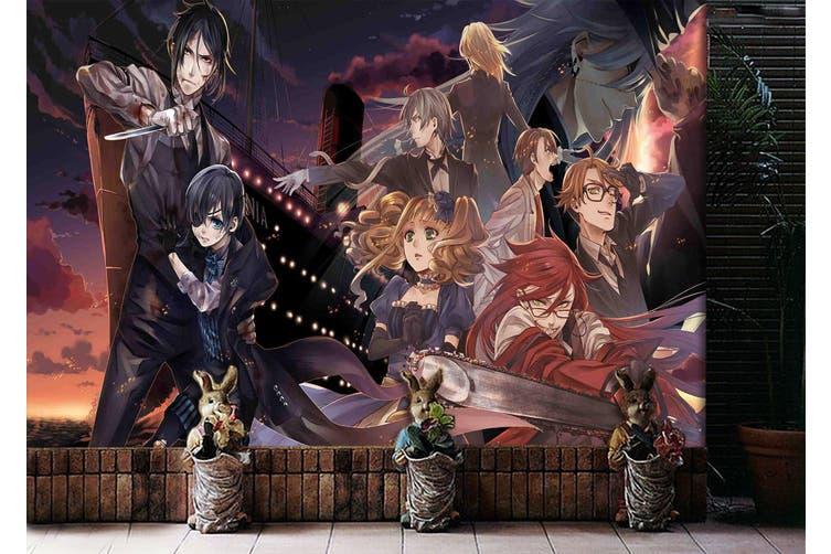 3D Black Butler 689 Anime Wall Murals Woven paper (need glue), XXXL 416cm x 254cm (WxH)(164''x100'')