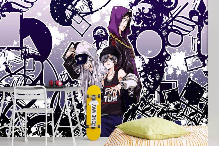 3D Black Butler 684 Anime Wall Murals Self-adhesive Vinyl, XXXL 416cm x 254cm (WxH)(164''x100'')