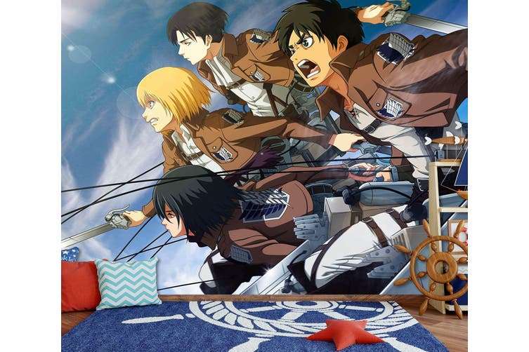 3D Attack On Titan 665 Anime Wall Murals Woven paper (need glue), XXL 312cm x 219cm (WxH)(123''x87'')