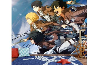 3D Attack On Titan 665 Anime Wall Murals Woven paper (need glue), XXXXL 520cm x 290cm (WxH)(205''x114'')