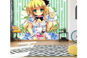 3D Alice In Wonderland 664 Anime Wall Murals Woven paper (need glue), XL 208cm x 146cm (WxH)(82''x58'')