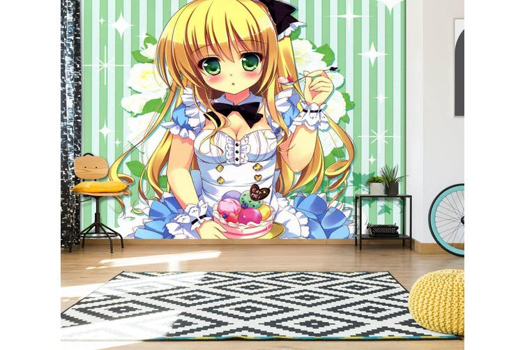 3D Alice In Wonderland 664 Anime Wall Murals Self-adhesive Vinyl, XXXL 416cm x 254cm (WxH)(164''x100'')