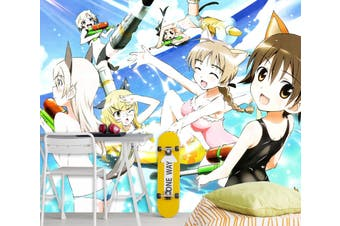 3D STRIKE WITCHES 656 Anime Wall Murals Woven paper (need glue), XL 208cm x 146cm (WxH)(82''x58'')