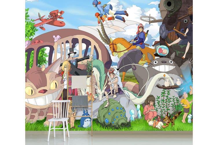 3D Spirited Away 655 Anime Wall Murals Woven paper (need glue), XL 208cm x 146cm (WxH)(82''x58'')