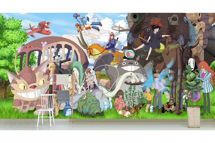 3D Spirited Away 655 Anime Wall Murals Woven paper (need glue), XXXXL 520cm x 290cm (WxH)(205''x114'')