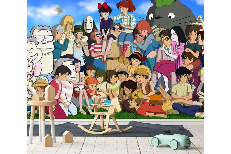 3D Spirited Away 654 Anime Wall Murals Woven paper (need glue), XXXL 416cm x 254cm (WxH)(164''x100'')