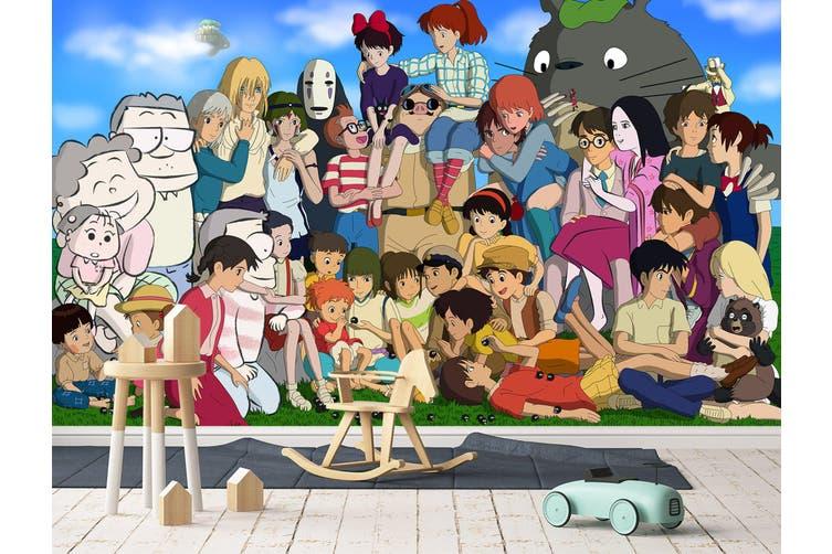 3D Spirited Away 654 Anime Wall Murals Woven paper (need glue), XXXXL 520cm x 290cm (WxH)(205''x114'')