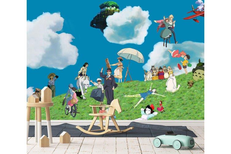 3D Spirited Away 653 Anime Wall Murals Woven paper (need glue), XL 208cm x 146cm (WxH)(82''x58'')