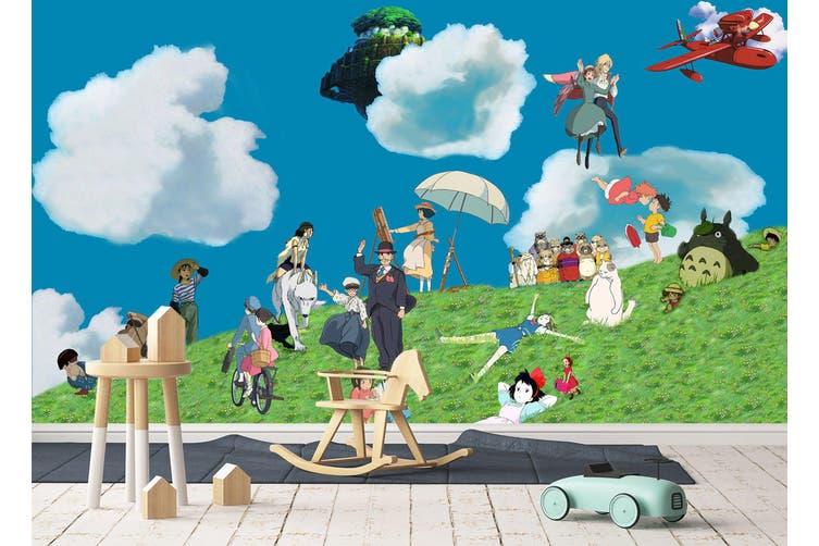 3D Spirited Away 653 Anime Wall Murals Woven paper (need glue), XXXXL 520cm x 290cm (WxH)(205''x114'')