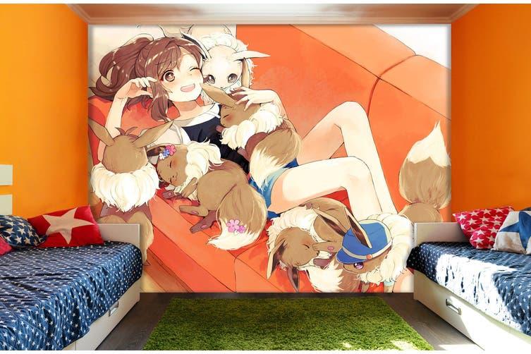 3D Pok茅mon 652 Anime Wall Murals Woven paper (need glue), XXXL 416cm x 254cm (WxH)(164''x100'')