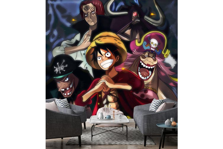 3D ONE PIECE 649 Anime Wall Murals Woven paper (need glue), XL 208cm x 146cm (WxH)(82''x58'')