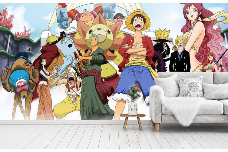 3D ONE PIECE 646 Anime Wall Murals Woven paper (need glue), XL 208cm x 146cm (WxH)(82''x58'')