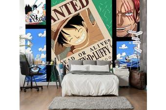 3D ONE PIECE 645 Anime Wall Murals Self-adhesive Vinyl, XL 208cm x 146cm (WxH)(82''x58'')