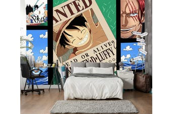 3D ONE PIECE 645 Anime Wall Murals Self-adhesive Vinyl, XXXL 416cm x 254cm (WxH)(164''x100'')