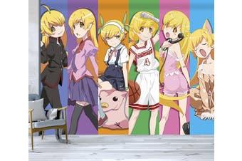 3D Monogatari Series 637 Anime Wall Murals Woven paper (need glue), XXXL 416cm x 254cm (WxH)(164''x100'')