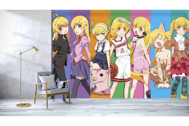 3D Monogatari Series 637 Anime Wall Murals Self-adhesive Vinyl, XXL 312cm x 219cm (WxH)(123''x87'')