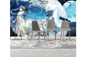 3D Hatsune Miku 630 Anime Wall Murals Self-adhesive Vinyl, XL 208cm x 146cm (WxH)(82''x58'')