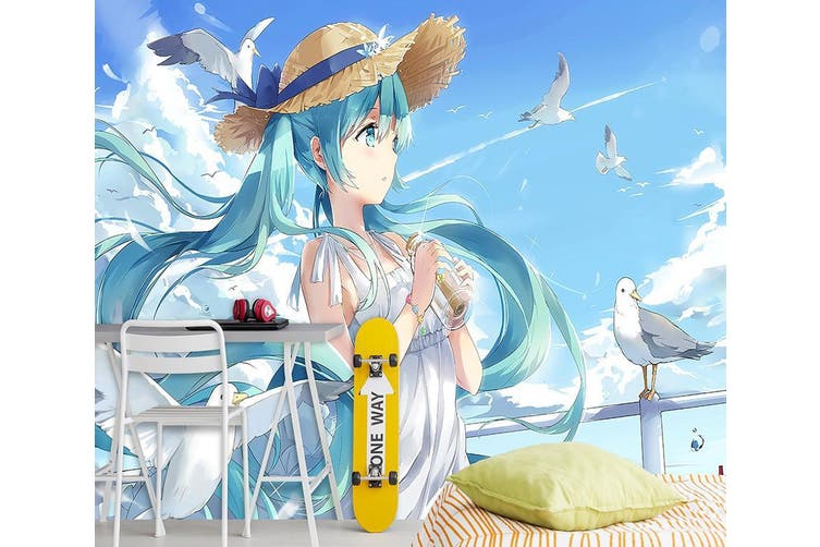 3D Hatsune Miku 627 Anime Wall Murals Woven paper (need glue), XL 208cm x 146cm (WxH)(82''x58'')