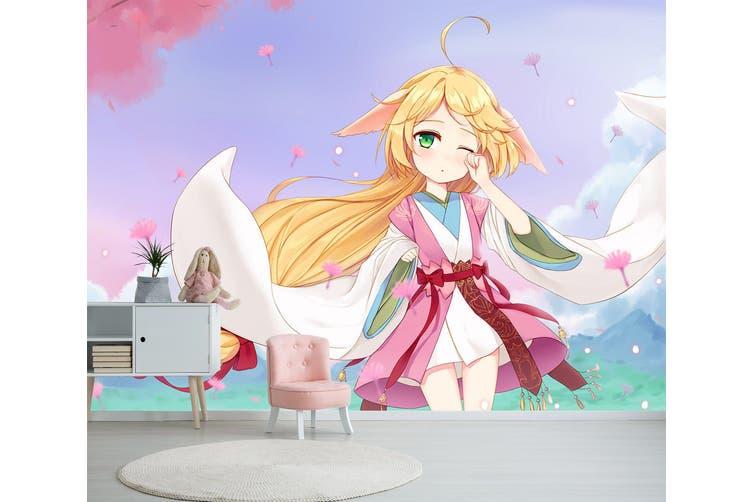 3D Fox Spirit Matchmaker 619 Anime Wall Murals Woven paper (need glue), XL 208cm x 146cm (WxH)(82''x58'')