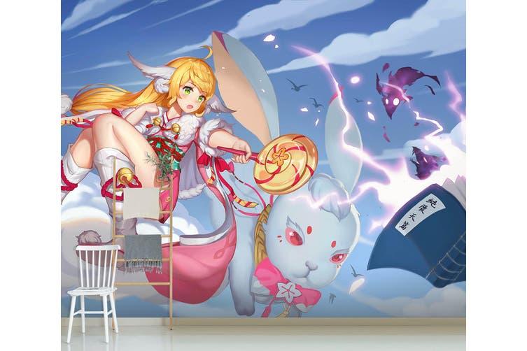 3D Fox Spirit Matchmaker 617 Anime Wall Murals Woven paper (need glue), XXXL 416cm x 254cm (WxH)(164''x100'')