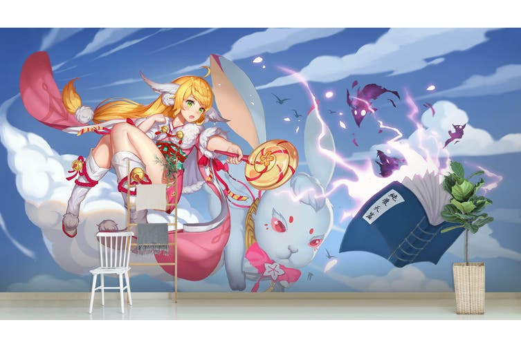 3D Fox Spirit Matchmaker 617 Anime Wall Murals Self-adhesive Vinyl, XXL 312cm x 219cm (WxH)(123''x87'')