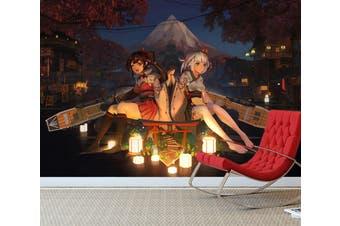 3D Fleet Girls Collection 616 Anime Wall Murals Woven paper (need glue), XXL 312cm x 219cm (WxH)(123''x87'')