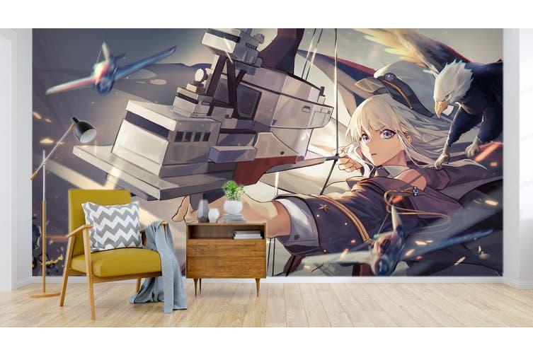 3D Fleet Girls Collection 615 Anime Wall Murals Woven paper (need glue), XXL 312cm x 219cm (WxH)(123''x87'')