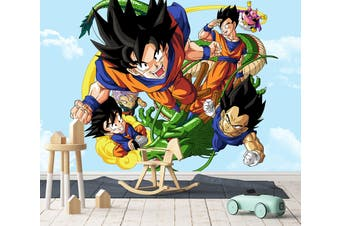 3D Dragon Ball 613 Anime Wall Murals Woven paper (need glue), XL 208cm x 146cm (WxH)(82''x58'')