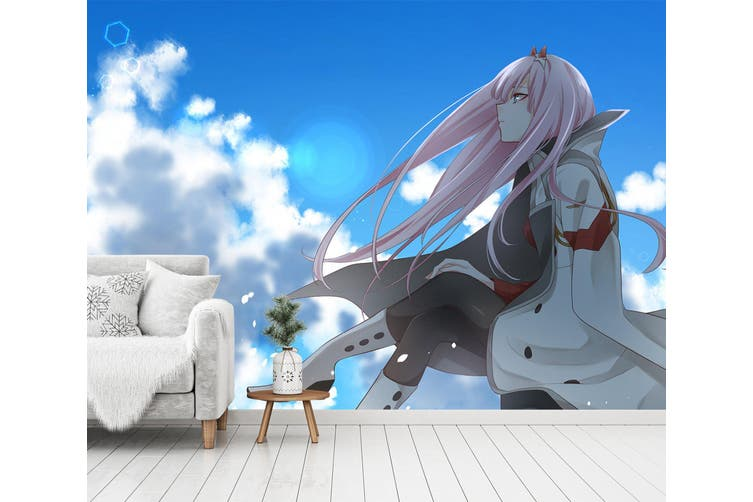 3D DARLING In The FRANXX 607 Anime Wall Murals Woven paper (need glue), XL 208cm x 146cm (WxH)(82''x58'')