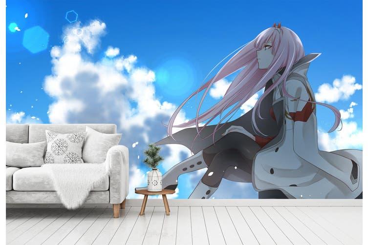 3D DARLING In The FRANXX 607 Anime Wall Murals Woven paper (need glue), XXXL 416cm x 254cm (WxH)(164''x100'')