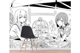 3D DARLING In The FRANXX 606 Anime Wall Murals Woven paper (need glue), XXXL 416cm x 254cm (WxH)(164''x100'')