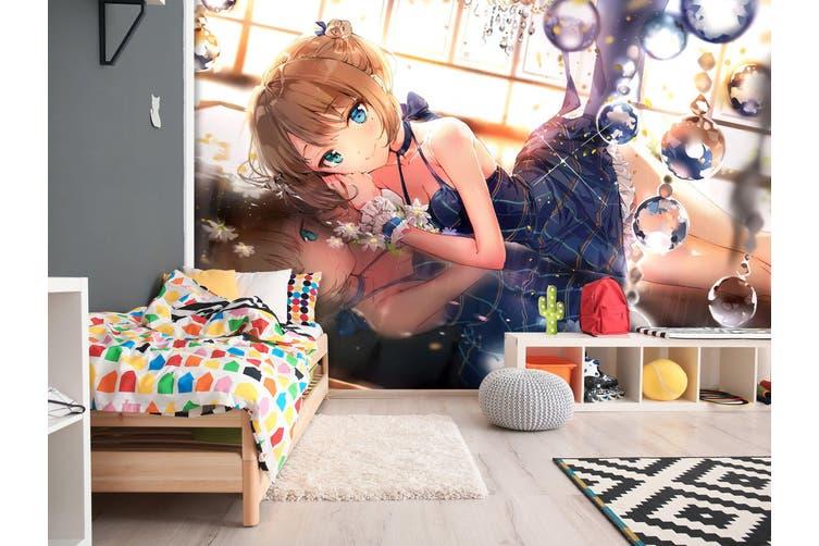 3D Cinderella Girls 600 Anime Wall Murals Woven paper (need glue), XXXXL 520cm x 290cm (WxH)(205''x114'')