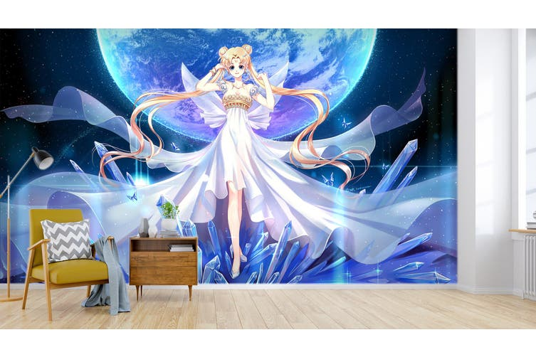 3D Sailor Moon 587 Anime Wall Murals Woven paper (need glue), XXXL 416cm x 254cm (WxH)(164''x100'')