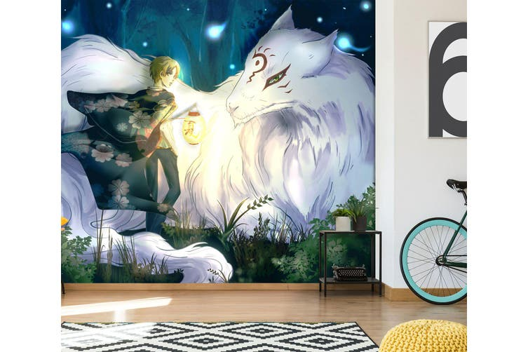 3D Natsume 586 Anime Wall Murals Woven paper (need glue), XL 208cm x 146cm (WxH)(82''x58'')