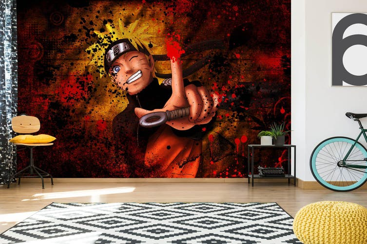 3D Naruto 584 Anime Wall Murals Woven paper (need glue), XXXL 416cm x 254cm (WxH)(164''x100'')