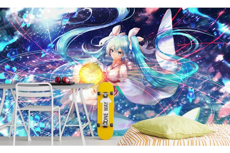 3D Hatsune Miku 580 Anime Wall Murals Self-adhesive Vinyl, XXXL 416cm x 254cm (WxH)(164''x100'')