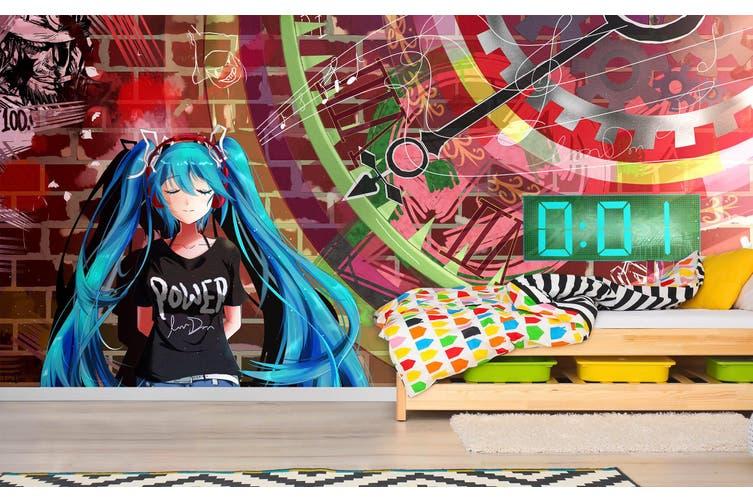 3D Hatsune Miku 579 Anime Wall Murals Self-adhesive Vinyl, XXL 312cm x 219cm (WxH)(123''x87'')