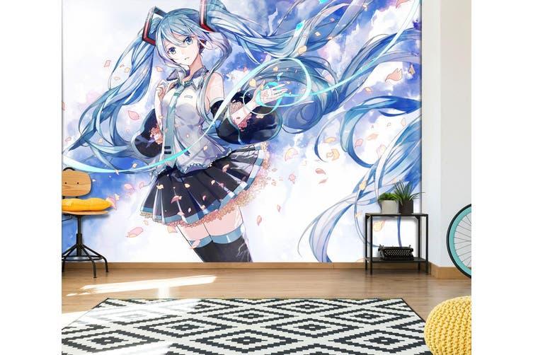 3D Hatsune Miku 575 Anime Wall Murals Woven paper (need glue), XXXXL 520cm x 290cm (WxH)(205''x114'')
